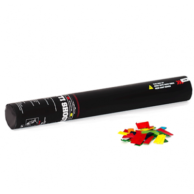 Handheld Confetti Shooter - 28cm - papier - multicolor