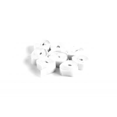 The ConfettiMaker streamers 5m x 0,85cm papier wit
