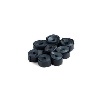 The ConfettiMaker streamers 5m x 0,85cm papier zwart