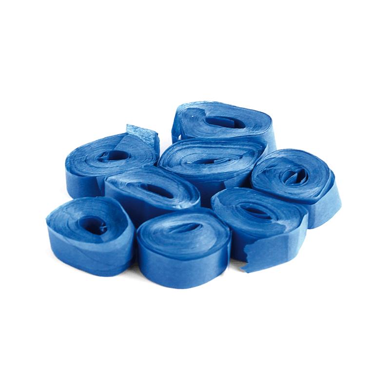 The ConfettiMaker streamers 5m x 0,85cm papier blauw