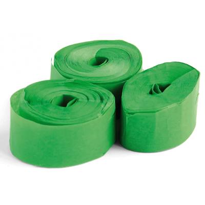 The ConfettiMaker streamers 10m x 1,5cm papier groen