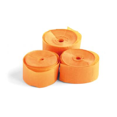 The ConfettiMaker streamers 10m x 1,5cm papier oranje