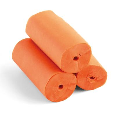 The ConfettiMaker streamers 10m x 5cm papier oranje