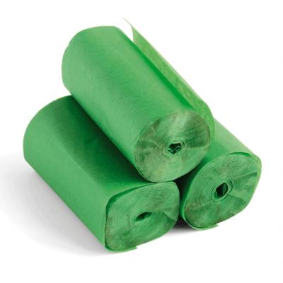 Streamers - 20m x 5cm - papier - Groen