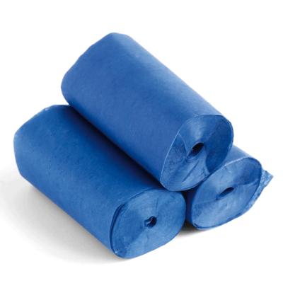 Streamers - 20m x 5cm - papier - blauw