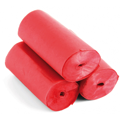 Streamers - 20m x 5cm - papier - rood