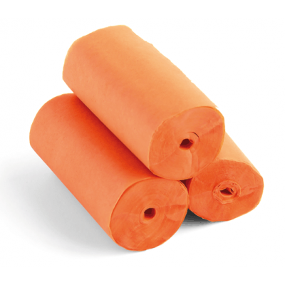 Streamers - 20m x 5cm - papier - oranje