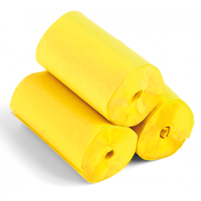 Streamers - 20m x 5cm - papier - geel