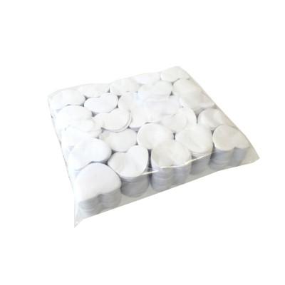 Losse Slowfall Confetti - Hartjes - 1kg - Wit