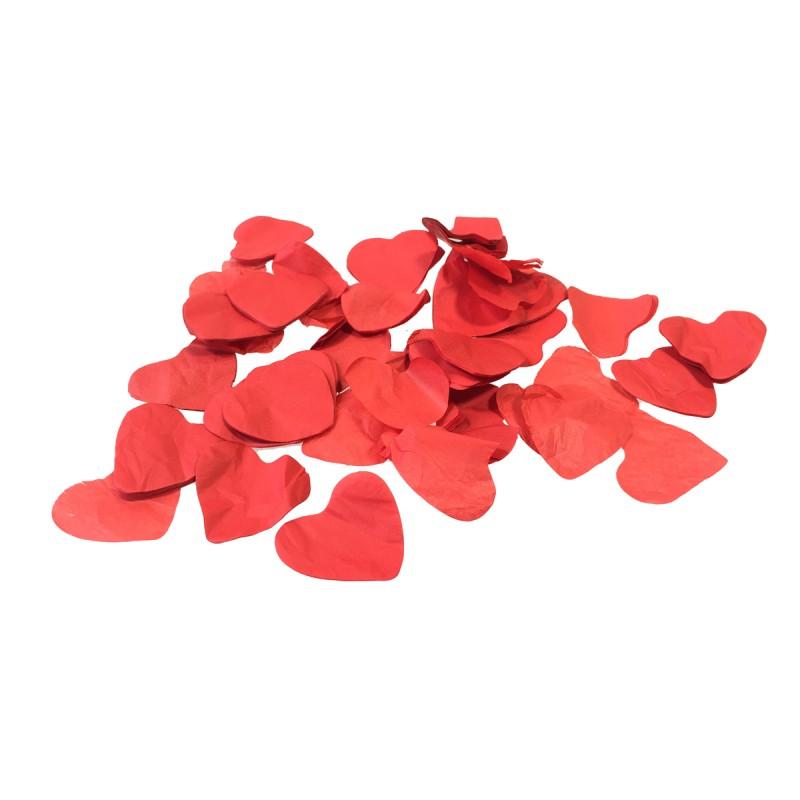 Losse Slowfall Confetti - 1kg - Rode -Hartjes